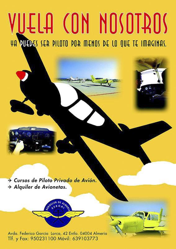 Cartel para el Aeroclub de Almería