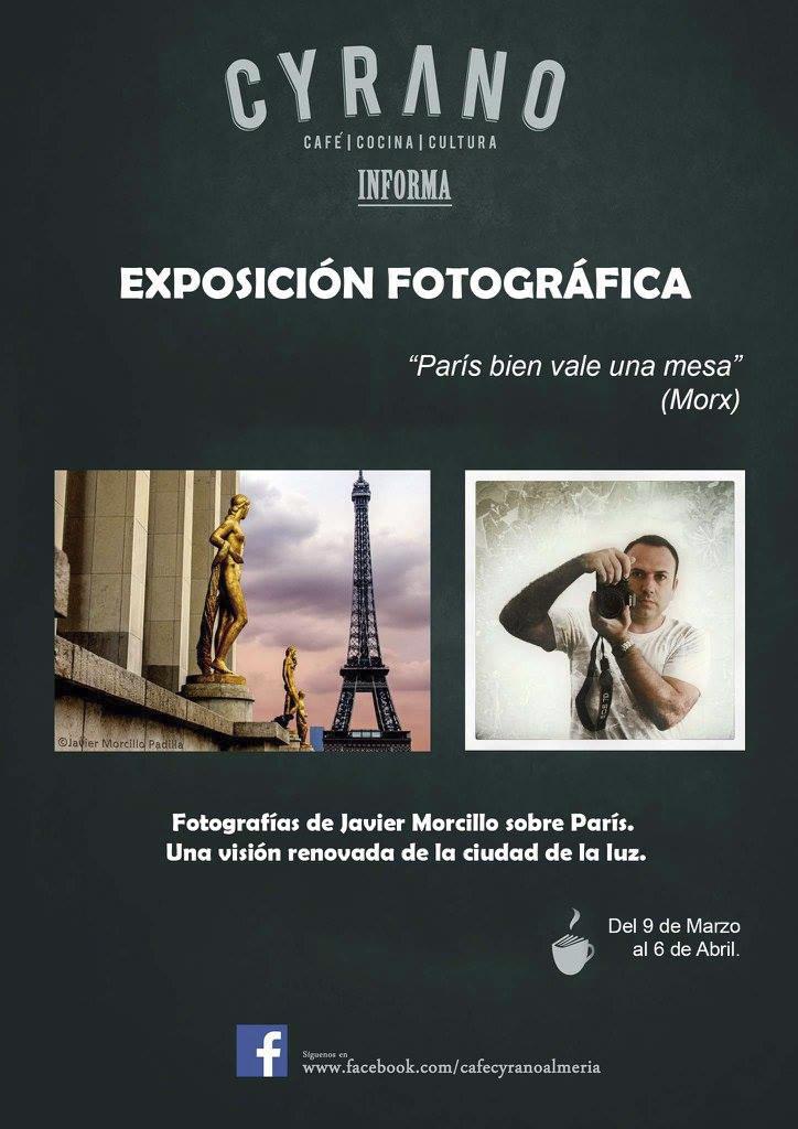 Cartel de la exposición de París en Café Cyrano