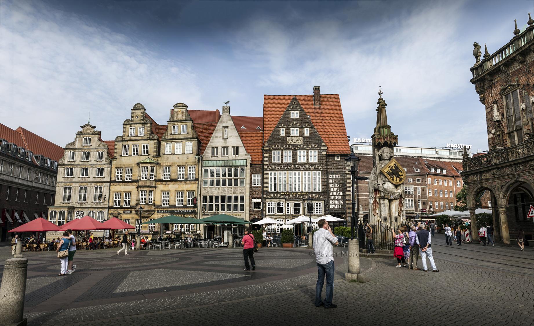 Panorámica de Bremen, Alemania.