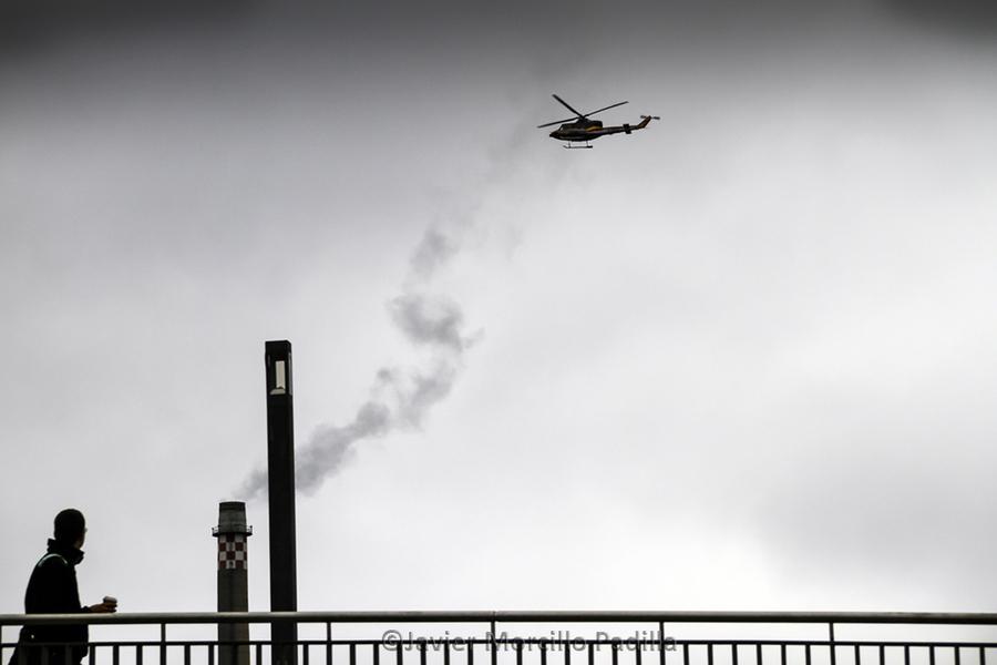 Helicóptero en Berlín.