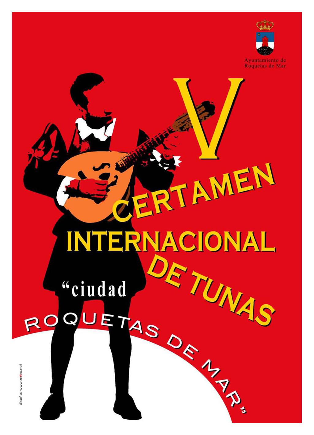 Cartel para el V certamen de Tunas.