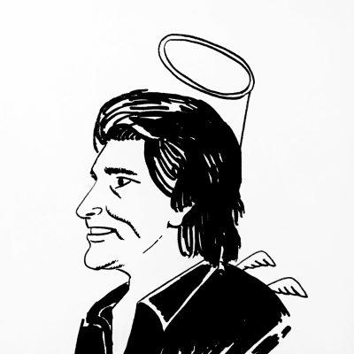 Caricatura de Michael Landon de 1989