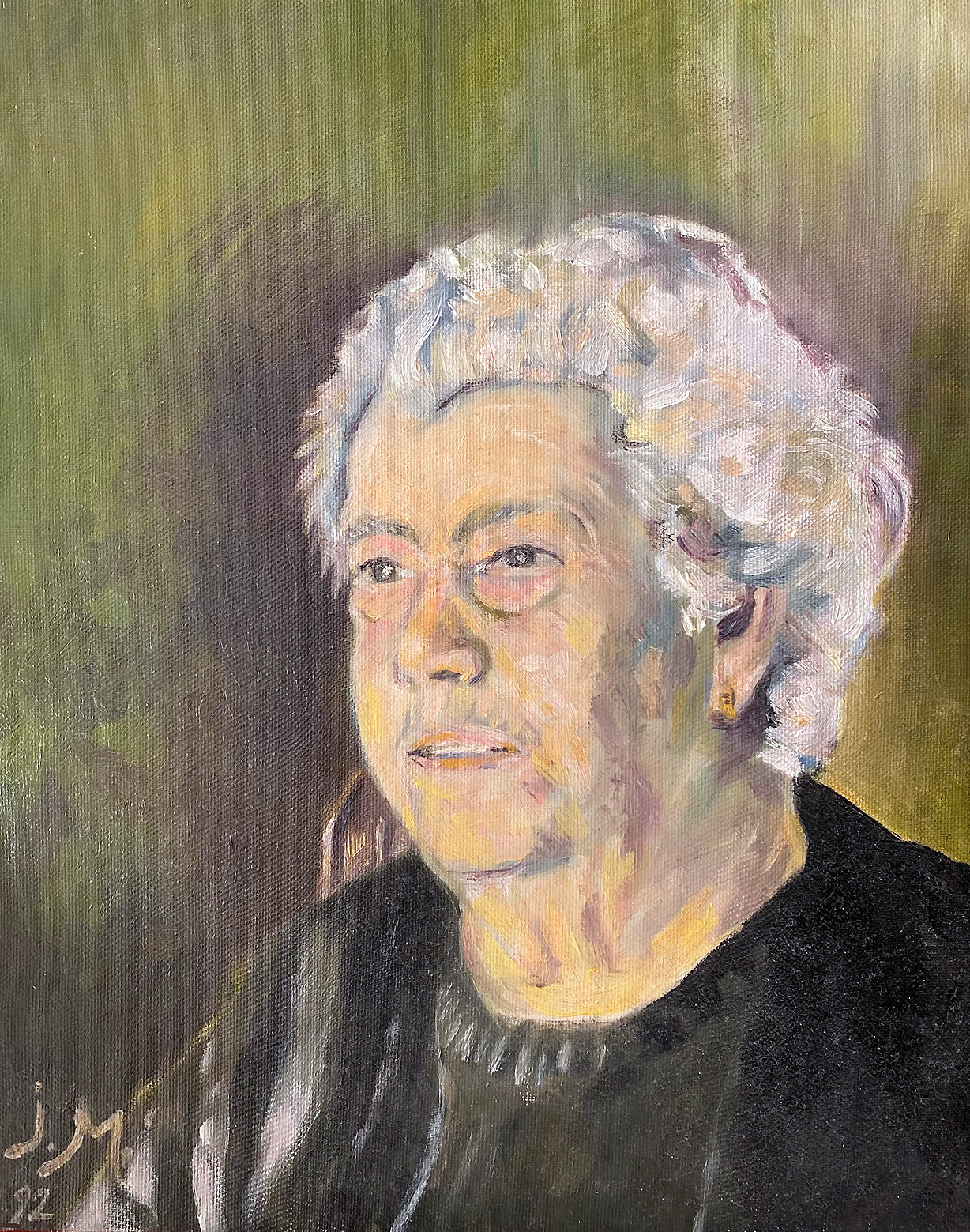 La Señora María, óleo sobre lienzo.
