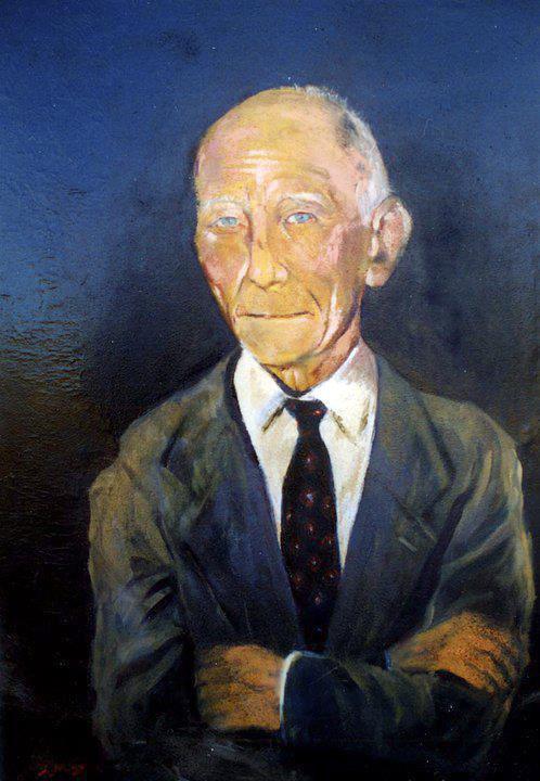 Retrato de mi abuelo, óleo sobre lienzo.
