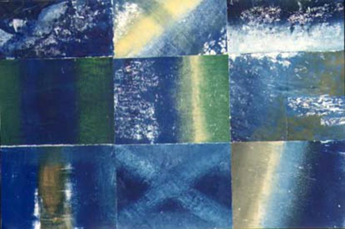 Composición de monotipos al óleo.