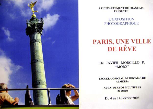 Cartel de la exposición fotográfica en la EOI.
