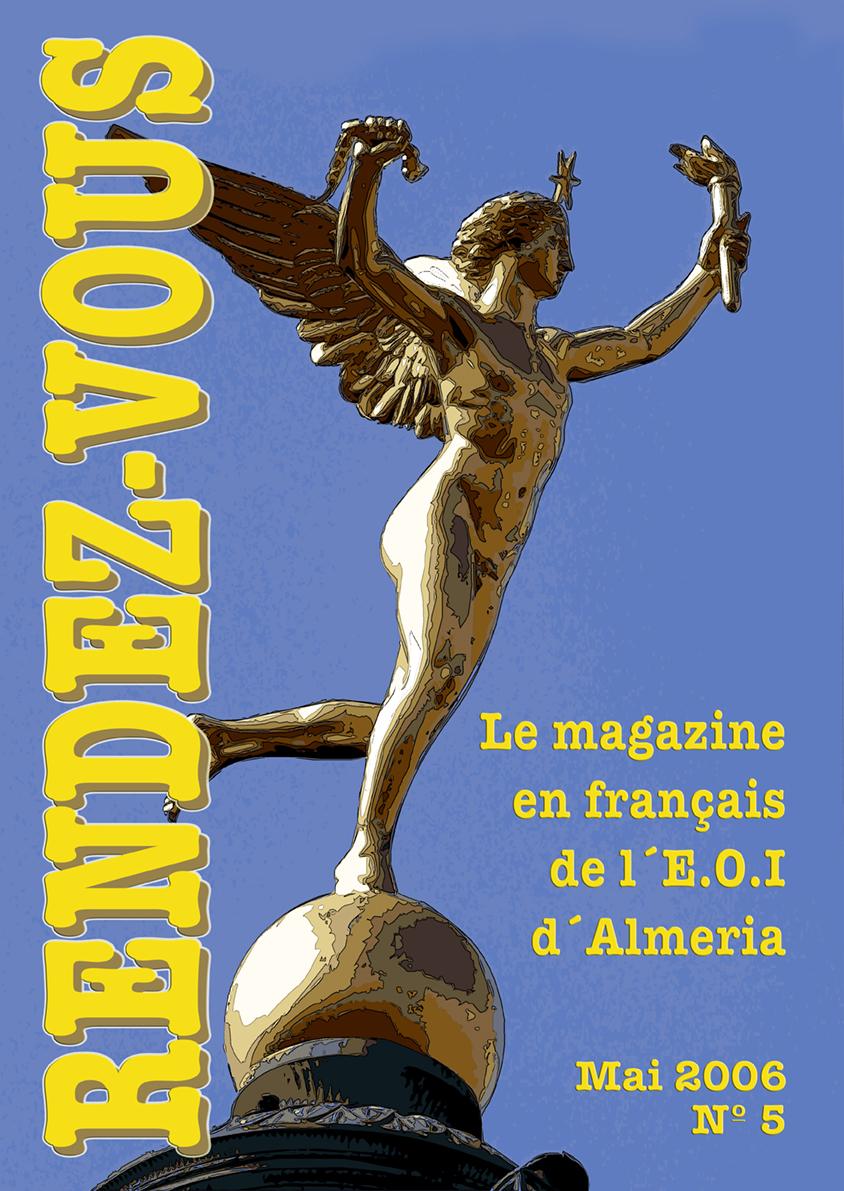 Portada para la revista de la escuela de idiomas de Almería