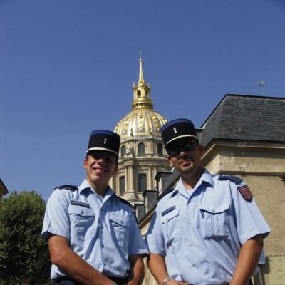 Gendarmes en Los Invalidos, París.