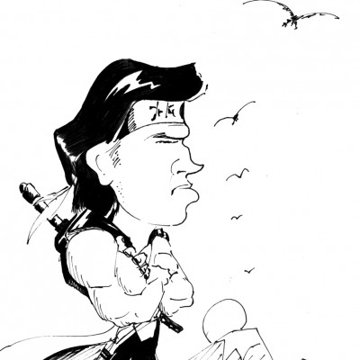 Morx caricature © Julián Romero
