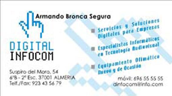 Tarjeta para digital Infocom