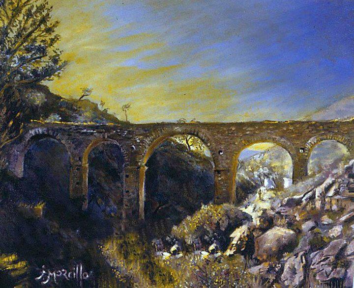 Los Arcos de Albanchez, óleo sobre lienzo..