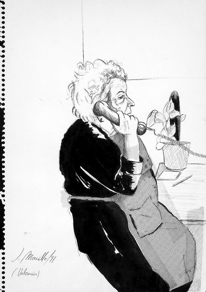 La Señora María, boceto.