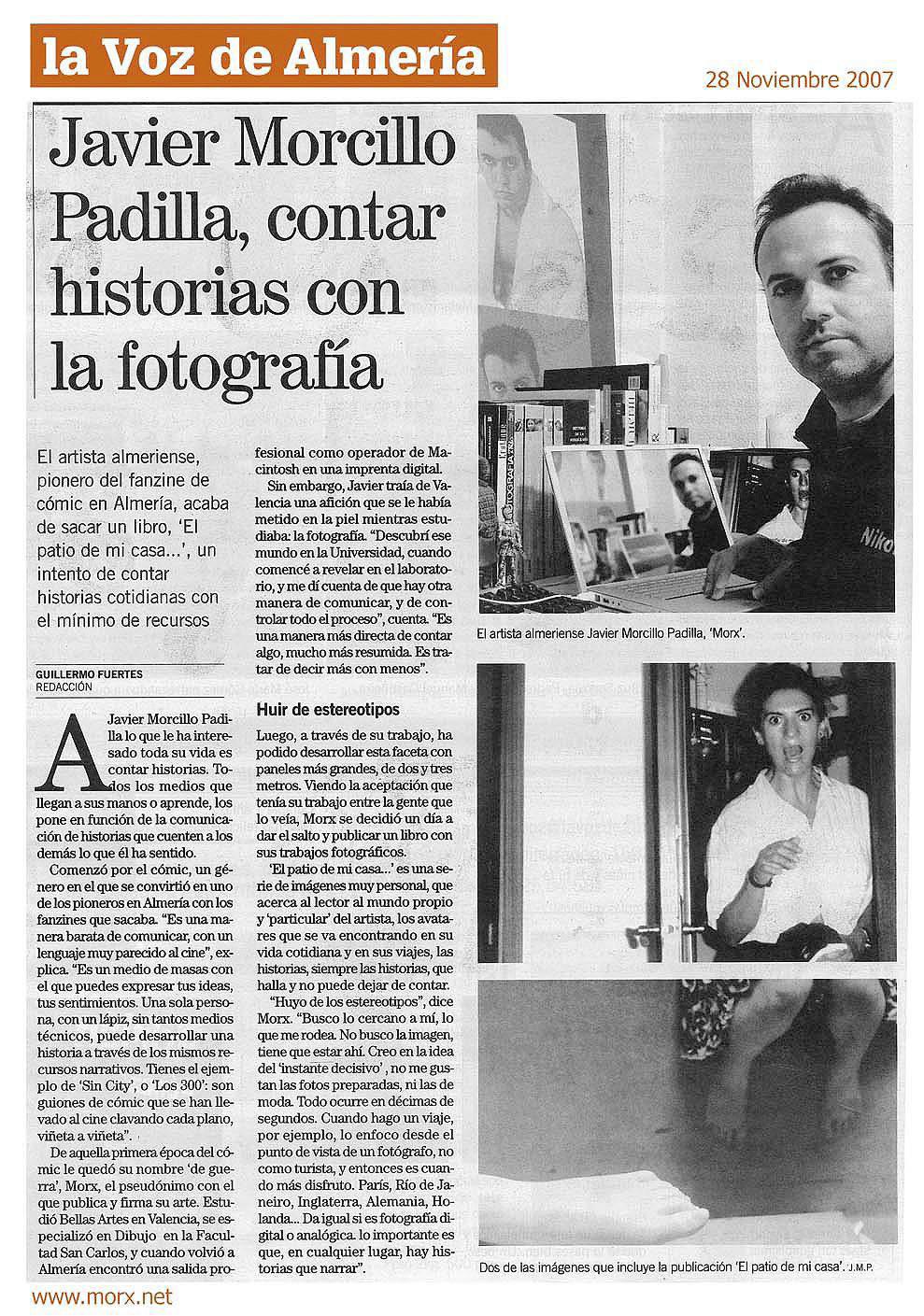 Artículo aparecido en La Voz de Almería.